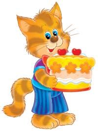 kitten with birthday cake